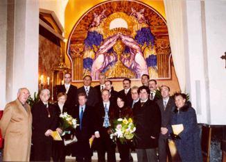 Mural en la Iglesia de La Sang de Reus.