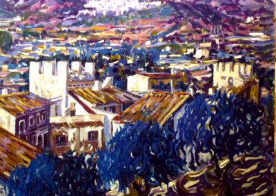 331 Vista de Montblanc 81 x 100 cms